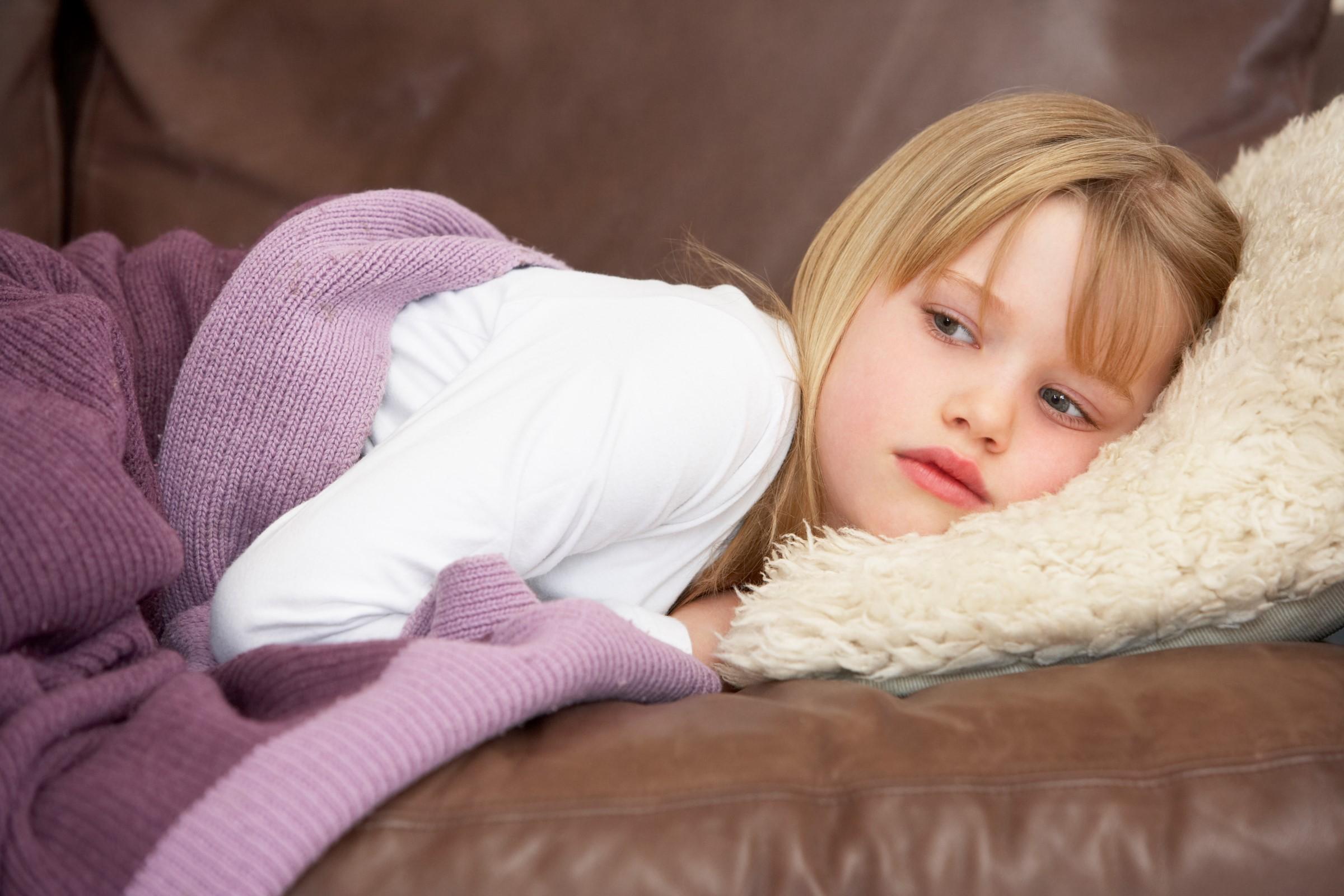 Syk og sliten jente