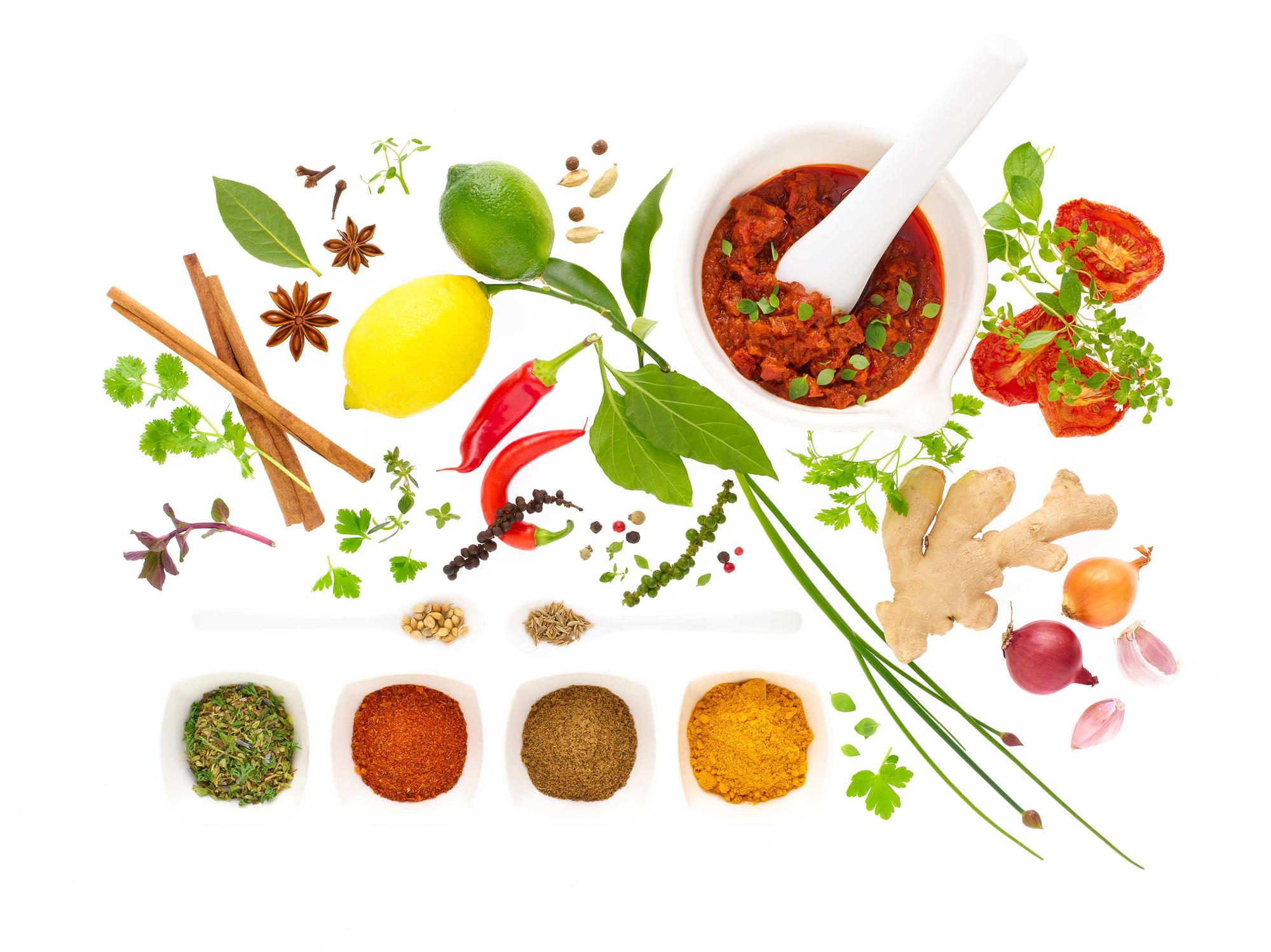 Krydder kan ofte erstatte salt i matlaging