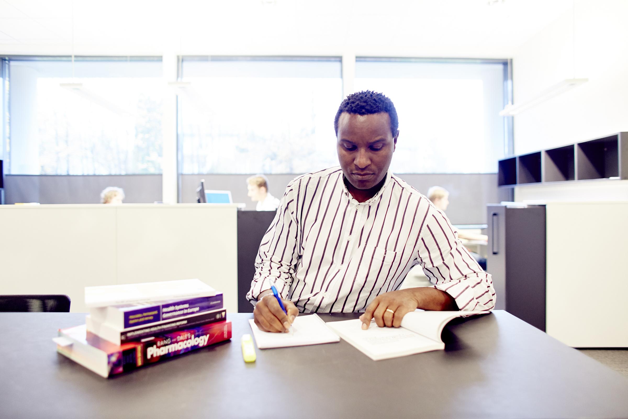 Student som leser