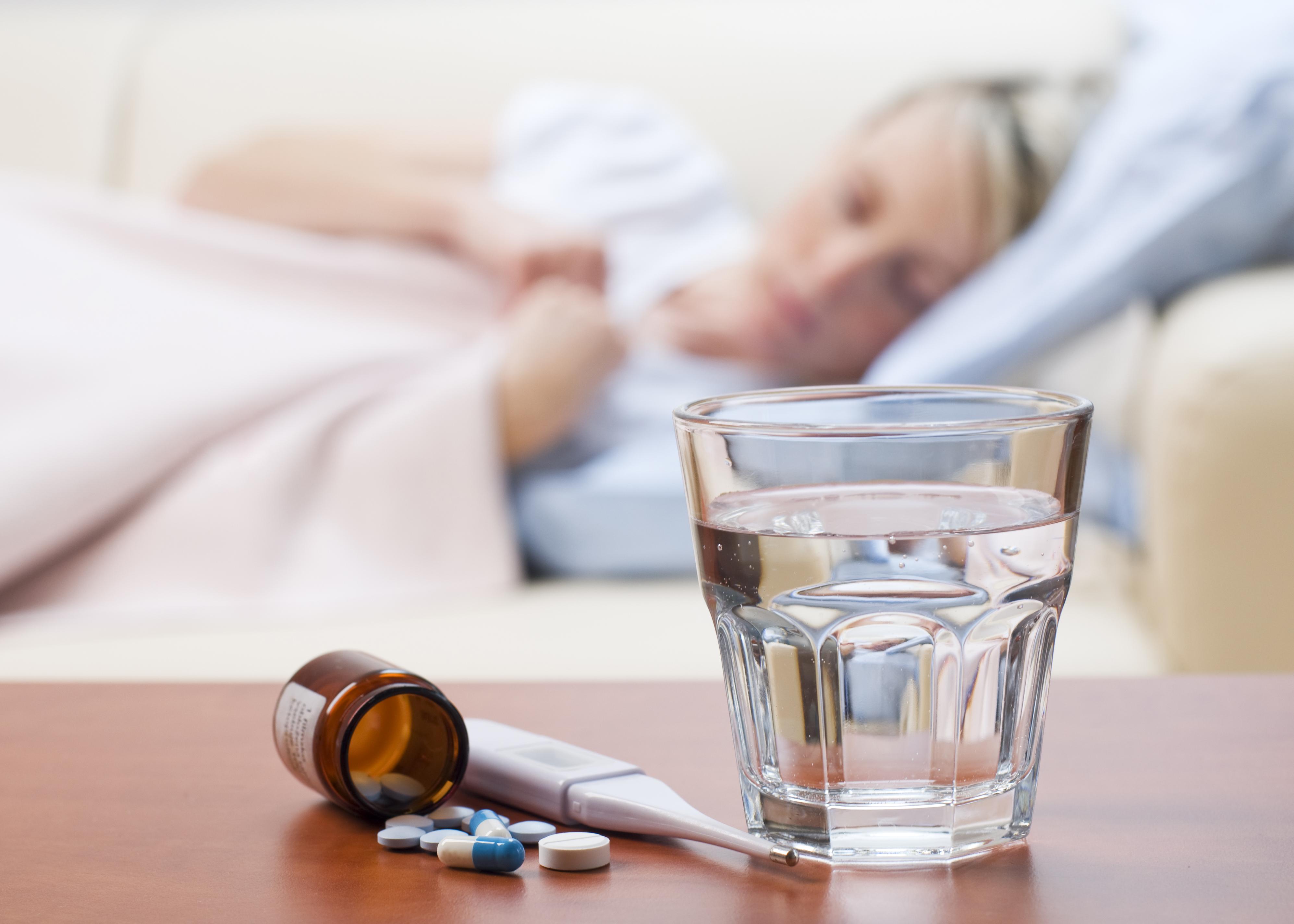 Influensasyk kvinne