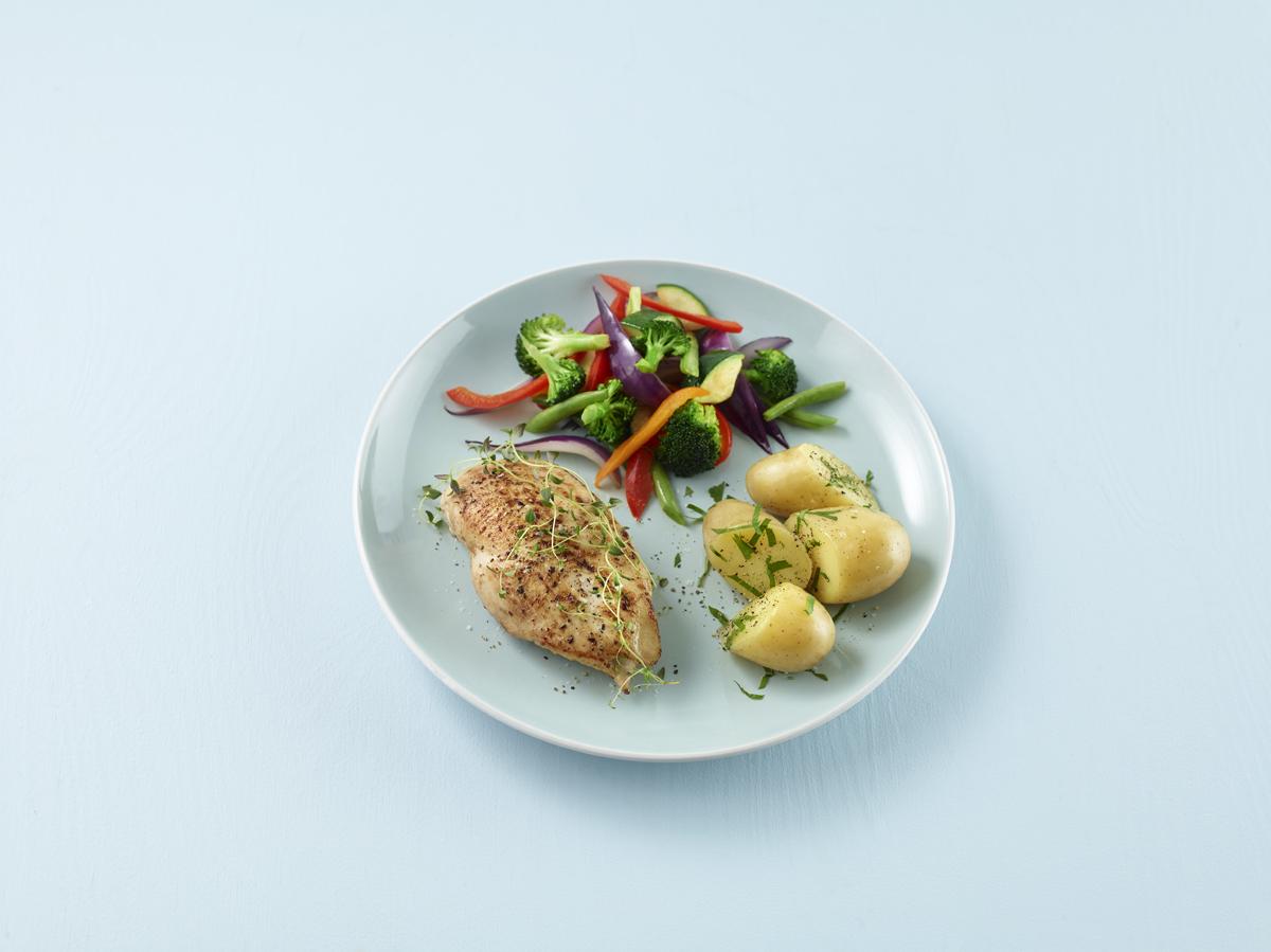 Kylling og poteter måltidssirkel