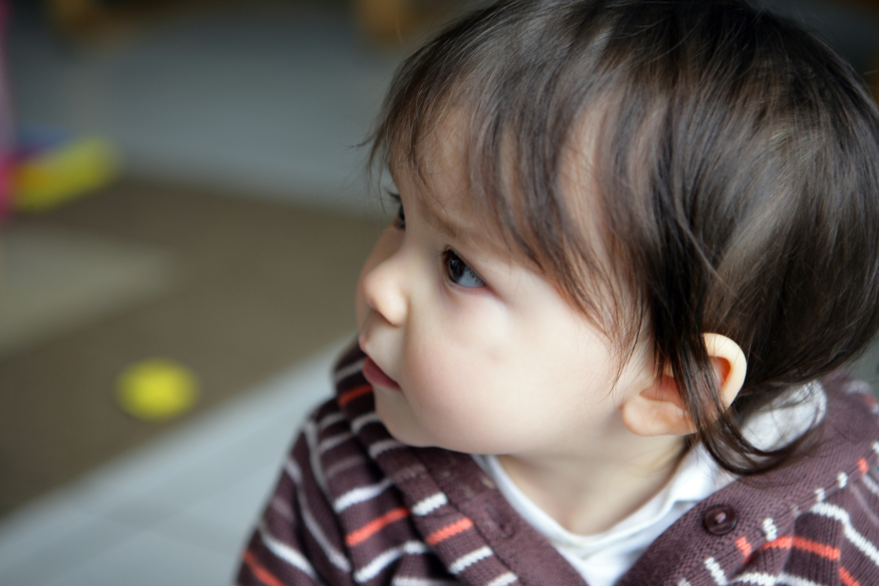 Barn med tett nese