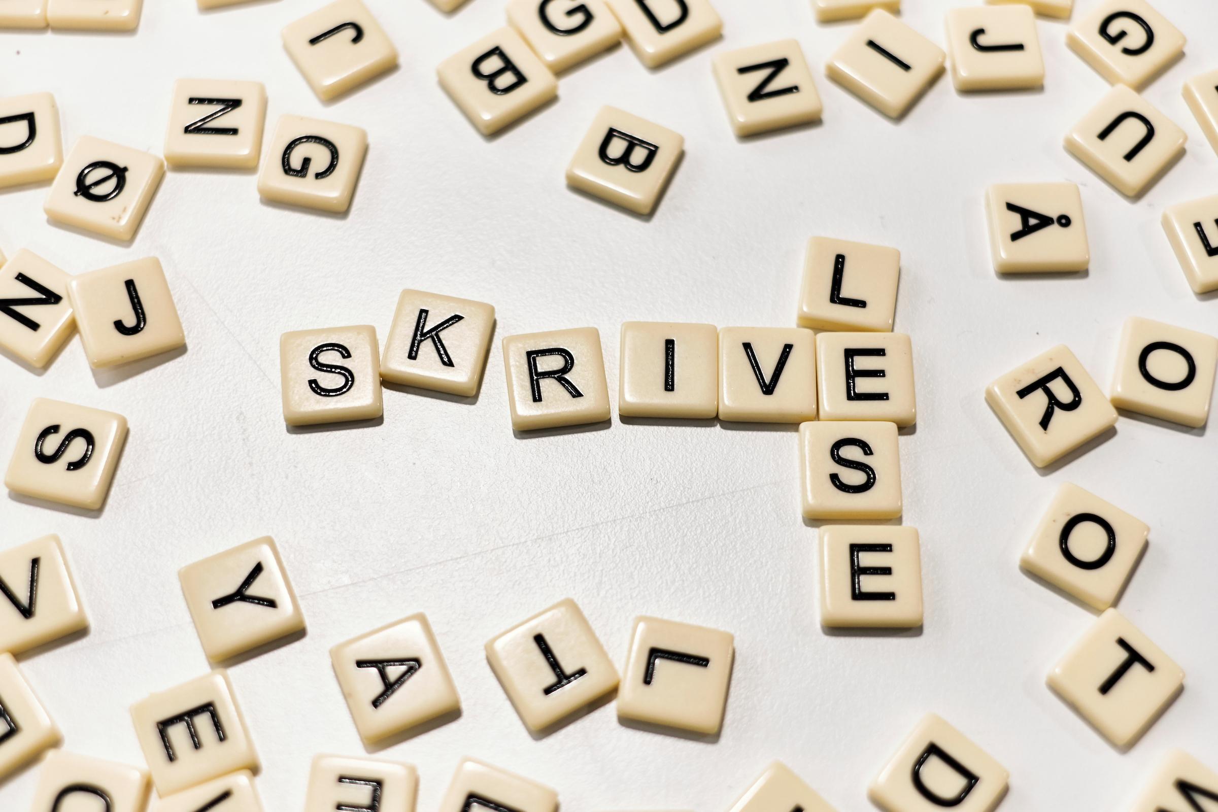 Scrabble brikker